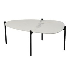 2019 Modern Oval 36 Inch Marble Top Coffee Table, White Throughout Mcquade (View 22 of 25)