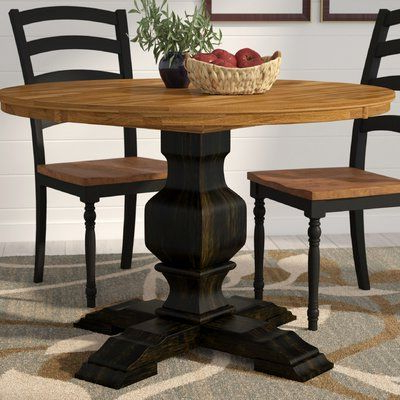 2019 Three Posts Hermitage Solid Wood Dining Table (View 7 of 25)