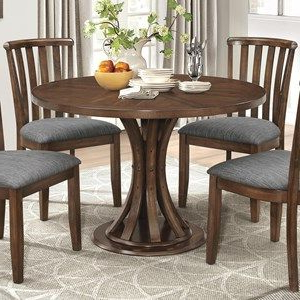 2019 Wilkesville 47'' Pedestal Dining Tables With Regard To Rustic Industrial Dining Table With Slatted Pedestal Base (View 21 of 25)
