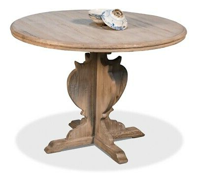 """2020 28'' Pedestal Dining Tables In 42"""" W Rustic Round Dining Table Reclaimed Pine Wood (View 3 of 25)"""