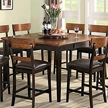 2020 Amazon – Coaster Hyde Counter Height Square Dining Inside Counter Height Pedestal Dining Tables (View 7 of 25)