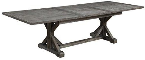 2020 Amazon: Emerald Home Paladin Rustic Charcoal Gray Regarding Warnock Butterfly Leaf Trestle Dining Tables (View 11 of 25)