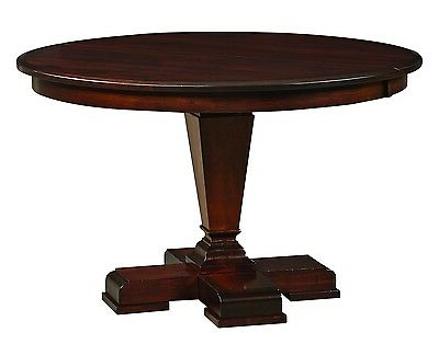 """2020 Amish 54"""" Fulton Round Pedestal Dining Table Solid Wood Pertaining To Classic Dining Tables (View 10 of 25)"""