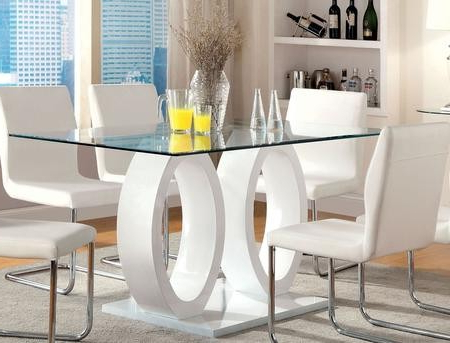2020 Bekasi 63'' Dining Tables Pertaining To Furniture Of America Lodia I Collection Cm3825wh T Table (View 6 of 25)