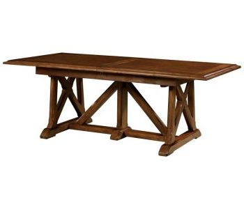2020 Chestnut Trestle Dining Table At Doerr Furniture Store Within Trestle Dining Tables (View 3 of 25)