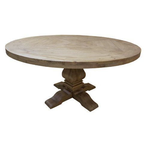 2020 Finkelstein Pine Solid Wood Pedestal Dining Tables Pertaining To The Stout And Shapely Pedestal And Base Design Are Sure To (View 5 of 25)