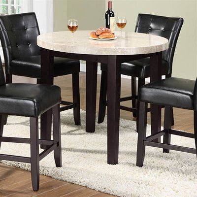 2020 Furniture Of America Cm3866pt 40 Marion Round Counter With Barra Bar Height Pedestal Dining Tables (View 4 of 25)