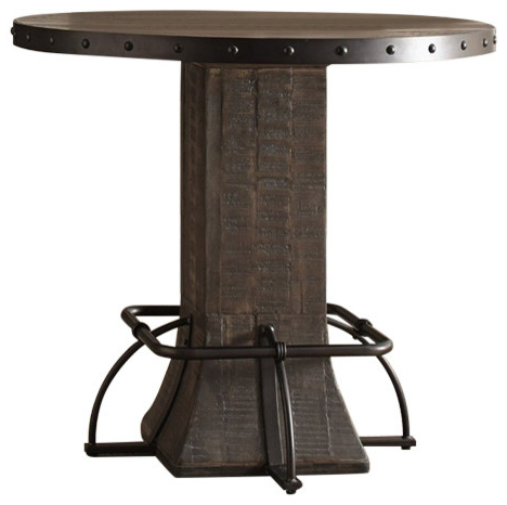 2020 Hillsdale Jennings Round Counter Height Dining Table With Regard To Andrenique Bar Height Dining Tables (View 22 of 25)