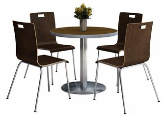 2020 Hitchin 36'' Dining Tables Intended For 36'' Round Walnut Laminate Table Set With Espresso Finish (View 25 of 25)