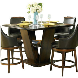 2020 Homelegance Bayshore Extension Counter Height Table With Inside Andrelle Bar Height Pedestal Dining Tables (View 6 of 25)