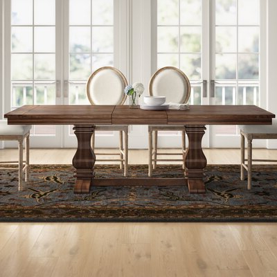 2020 Katarina Extendable Rubberwood Solid Wood Dining Tables In Three Posts™ Derwent Poplar Solid Wood Extendable Dining (View 19 of 25)