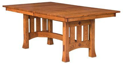 2020 Nerida Trestle Dining Tables With Regard To Amish Made Olde Century Mission Trestle Dining Table (View 5 of 25)