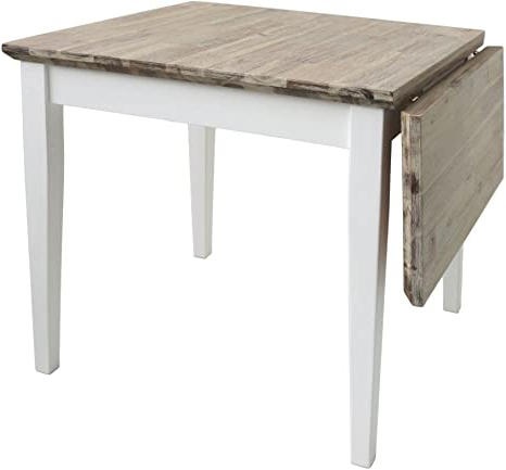 2020 Nolea 29.53'' Pine Solid Wood Dining Tables Throughout Florence Square Extended Table (75 110cm) (View 4 of 25)