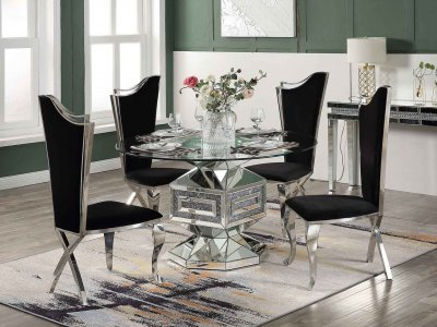 2020 Noralie Dining Table 72955 In Mirroredacme W/options With Regard To Nashville 40'' Pedestal Dining Tables (View 25 of 25)