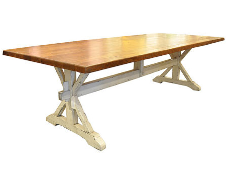 2020 Oak Trestle Dining Table – J (View 4 of 25)