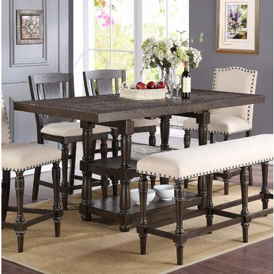 2020 Overstreet Bar Height Dining Tables In Fortunat 6 Piece Extendable Dining Set (View 7 of 25)