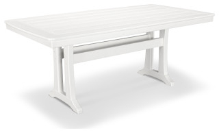 """2020 Polywood Nautical Trestle 38"""" X 73"""" Dining Table – Beach Throughout Alexxia 38'' Trestle Dining Tables (View 7 of 25)"""