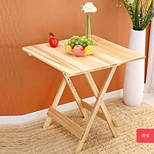 2020 Rhiannon Poplar Solid Wood Dining Tables Intended For Amazon: Gaojian Pure Solid Wood Folding Table Poplar (View 14 of 25)