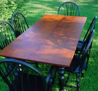 2020 Tiger Maple Dining Table And Chairs (View 15 of 25)