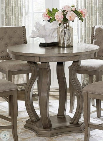 Featured Photo of Liesel Bar Height Pedestal Dining Tables