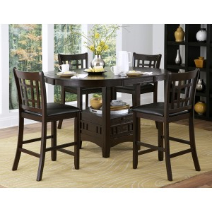 2423 36 Round / Oval Counter Height Table With Storage Base Within 2019 Liesel Bar Height Pedestal Dining Tables (View 7 of 25)
