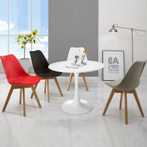 """32"""" Round Pedestal Table In White ,tulip Design Coffee With Regard To Fashionable Mcmichael 32'' Dining Tables (View 2 of 25)"""