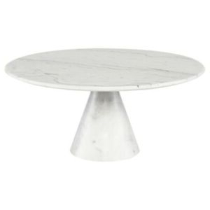 """35.5"""" W Steffani Coffee Table White Marble Solid Stone With Regard To Most Recent Montauk (View 25 of 25)"""