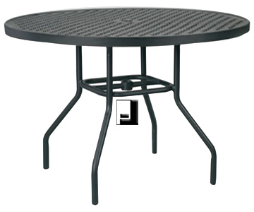 36 Inch Round Aluminum Dining Table With Umbrella Hole With Most Recently Released Menifee 36'' Dining Tables (View 3 of 25)