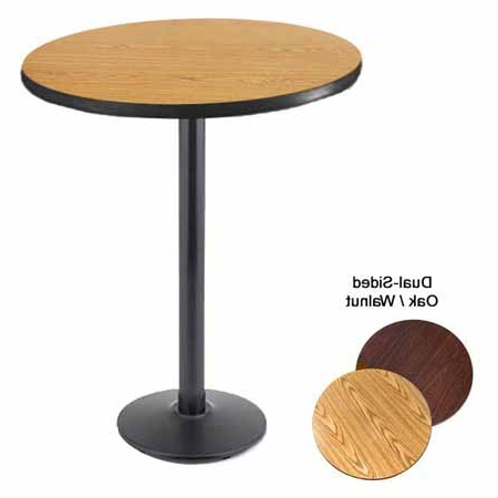 """36"""" Round Oak/walnut Dining Height Dual Sided Table Kit 29 With Regard To Famous Pevensey 36'' Dining Tables (View 5 of 25)"""