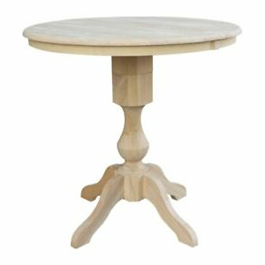 """36"""" Round Top Pedestal Table With 12"""" Leaf – (View 20 of 25)"""