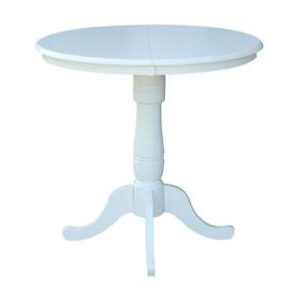 """36"""" Round Top Pedestal Table With 12"""" Leaf – Dining Height Inside 2019 Counter Height Pedestal Dining Tables (View 25 of 25)"""