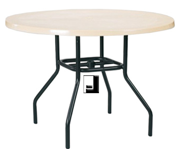 42 Inch Round Fiberglass Dining Table With Umbrella Hole In Most Up To Date Darbonne 42'' Dining Tables (View 24 of 25)