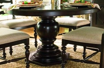 47'' Pedestal Dining Tables Intended For Best And Newest Paula Deen Home Round Pedestal Table In Tobacco Code (View 15 of 25)