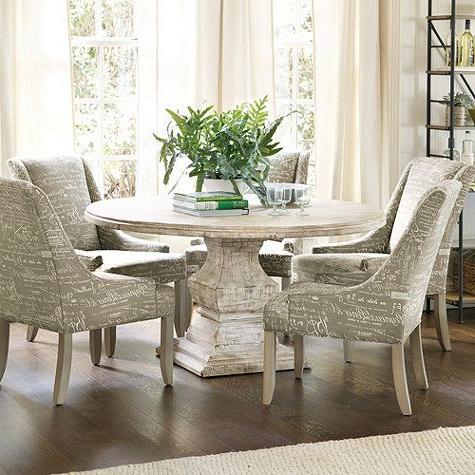 "47'' Pedestal Dining Tables Regarding Famous Andrews Pedestal Dining Table – 48"" Ballard Designs (View 25 of 25)"
