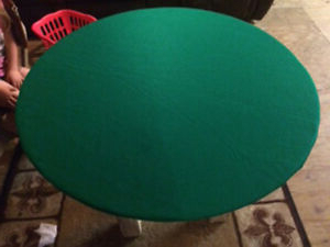 """48"""" 6 – Player Poker Tables Inside Trendy Green Poker Felt Table Cover – Fits 48"""" Round Table (View 18 of 25)"""