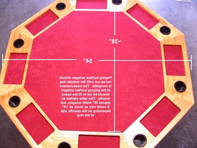 """48"""" 6 – Player Poker Tables Intended For 2020 Poker Table Dimensions & Plans (View 14 of 25)"""