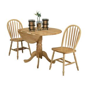 5140nadt Drop Leaf Pedestal Table For Most Recent Villani Drop Leaf Rubberwood Solid Wood Pedestal Dining Tables (View 2 of 25)