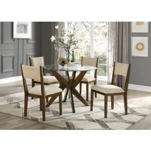 5491 42* Round Glass Dining Table, Tempered With Well Known Darbonne 42'' Dining Tables (View 12 of 25)