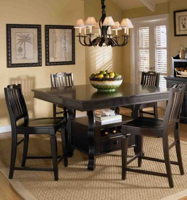 6 Pc Mirren Pointe Storage Rectangular/square Counter Inside 2020 Barra Bar Height Pedestal Dining Tables (View 5 of 25)