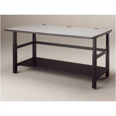"""72"""" L Techworks Network Height Adjustable Utility & Work In Well Known 72"""" L Breakroom Tables And Chair Set (View 21 of 25)"""