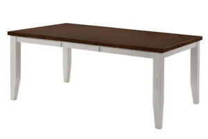 """72"""" X 42"""" X 30"""" White Cinnamon Hardwood Dining Table (View 13 of 25)"""