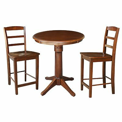 Abby Bar Height Dining Tables Intended For Popular Round Pedestal Gathering Height Table With 2 Counter (View 11 of 25)