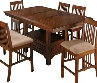 Abby Bar Height Dining Tables Regarding Newest Jofran 477 72 Saddle Brown Oak Rectangular Counter Height (View 9 of 25)