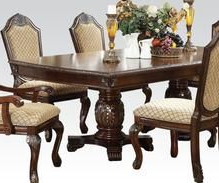 Acme 64075 Chateau De Ville Espresson Double Pedestal Throughout Widely Used Wilkesville 47'' Pedestal Dining Tables (View 16 of 25)