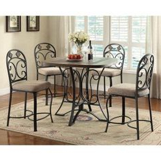 Acme Furniture Kiele 5 Piece Square Counter Height Dining In Recent Joyl (View 9 of 25)