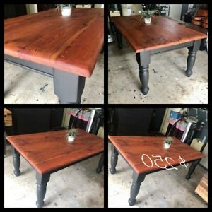 Adejah 35'' Dining Tables Throughout Most Recent Refurbished Farmhouse/ Black Hampton Style Solid Wooden (View 11 of 25)