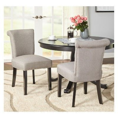 Adeline Pedestal Dining Set – Gray – Buylateral For Latest Wilkesville 47'' Pedestal Dining Tables (View 22 of 25)