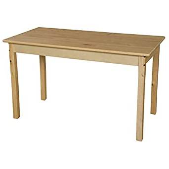 Adsila 24'' Dining Tables Throughout Current Amazon: Wood Designs Wd84829 Rectangle Hardwood Table (View 12 of 25)