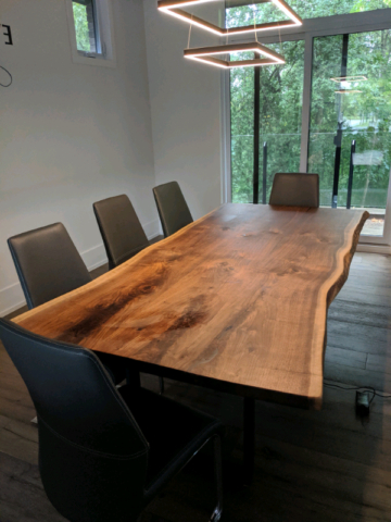 """Adsila 24'' Dining Tables With Regard To Fashionable Custom Live Edge Walnut Dining Table – 7' 6"""" X (View 25 of 25)"""