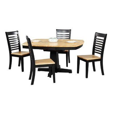 Alcott Hill Calvert Extendable Butterfly Leaf Solid Wood With Most Recently Released Wes Counter Height Rubberwood Solid Wood Dining Tables (View 15 of 25)